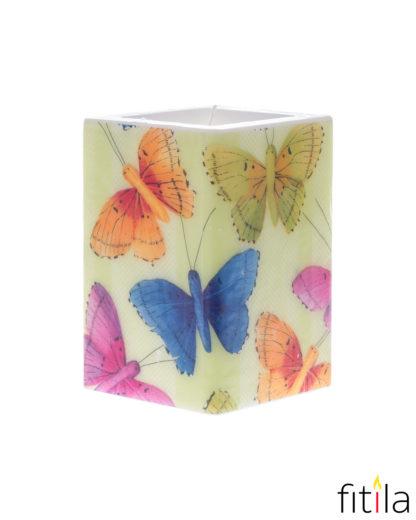 Motivkerze Schmetterlinge