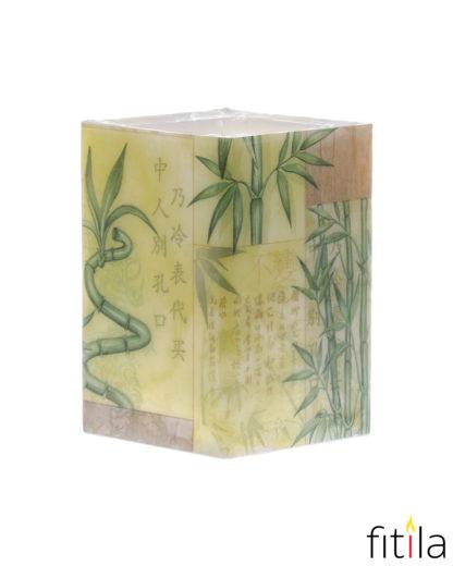 Motivkerze Bambus