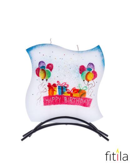 Motivkerze Happy Birthday