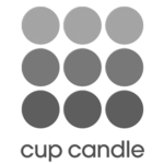 logo cup candle